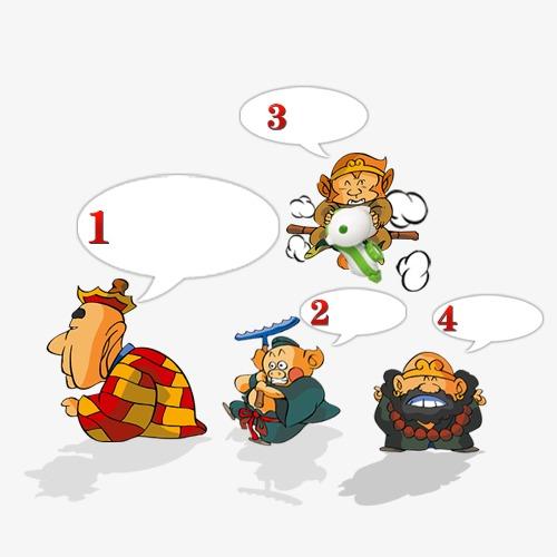卡通西游记师徒四人对话
