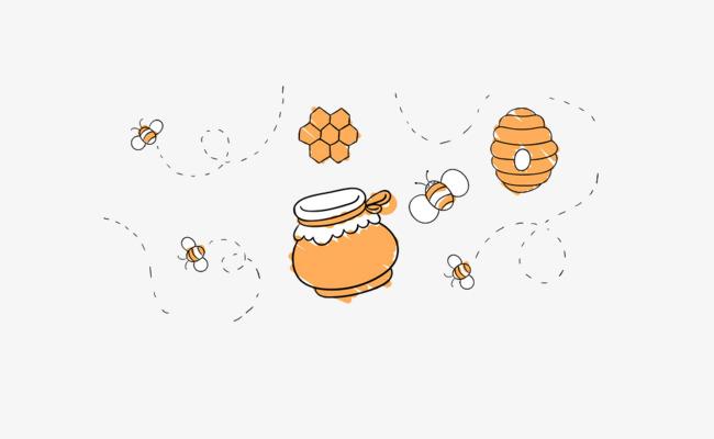 手绘蜂蜜插画
