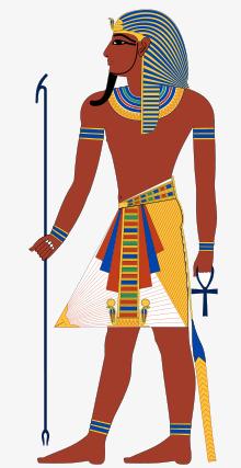 手绘古埃及侍卫