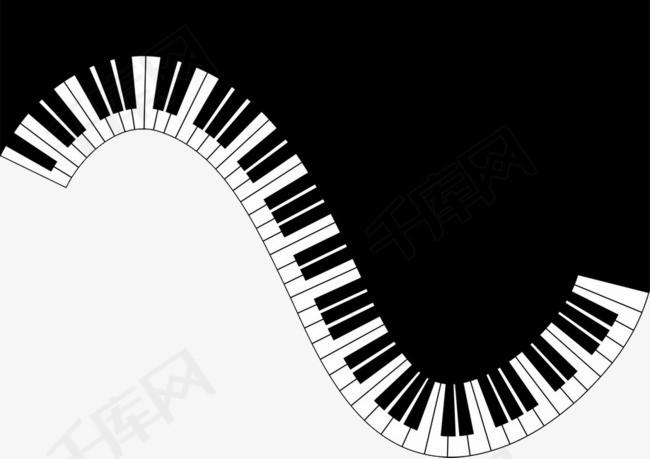 黑白钢琴素材图片免费下载 高清卡通手绘png 千库网 图片编号5530375