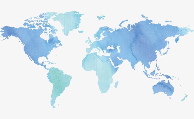 界地图世界地图水彩陆地地球矢量-水墨世界地图素材图片免费下载