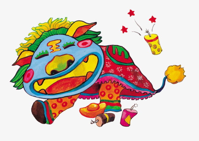 图片 > 【png】 新年年兽  分类:手绘动漫 类目:其他 格式:png 体积