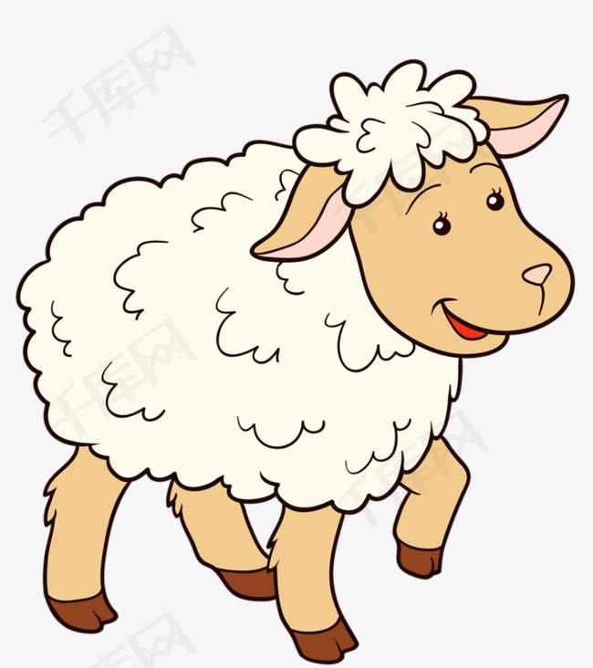 可爱的小绵羊素材图片免费下载 高清卡通手绘png 千库网 图片编号5534137