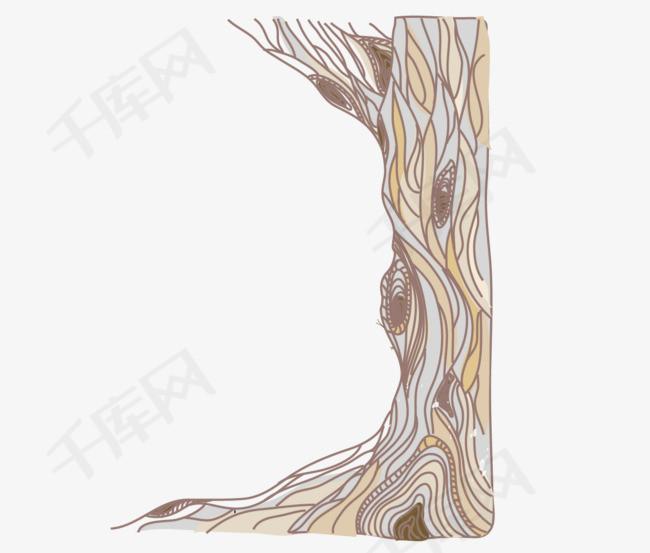 千年老树根免抠图素材图片免费下载 高清卡通手绘psd 千库网 图片编号5533602