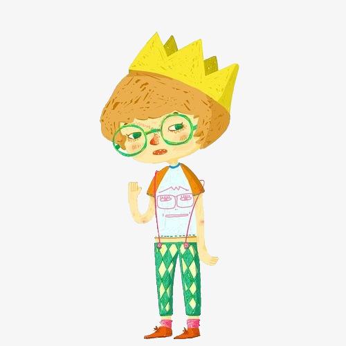 图片 > 【png】 戴眼镜男孩手绘元素  分类:手绘动漫 类目:其他 格式