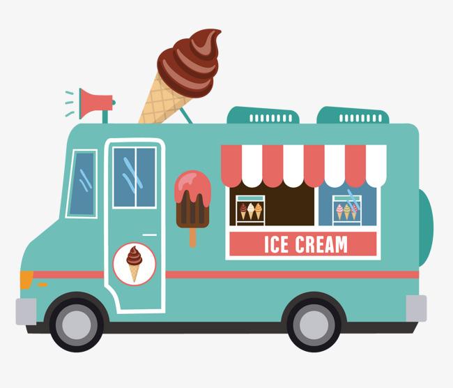 冰淇淋餐车图片