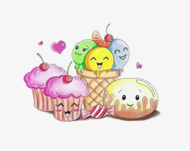卡通蛋糕和甜点素材图片