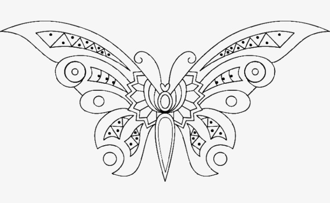 大翅膀小蝴蝶简笔画