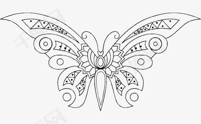 大翅膀小蝴蝶简笔画素材图片免费下载 高清卡通手绘png 千库网 图片编号5546263