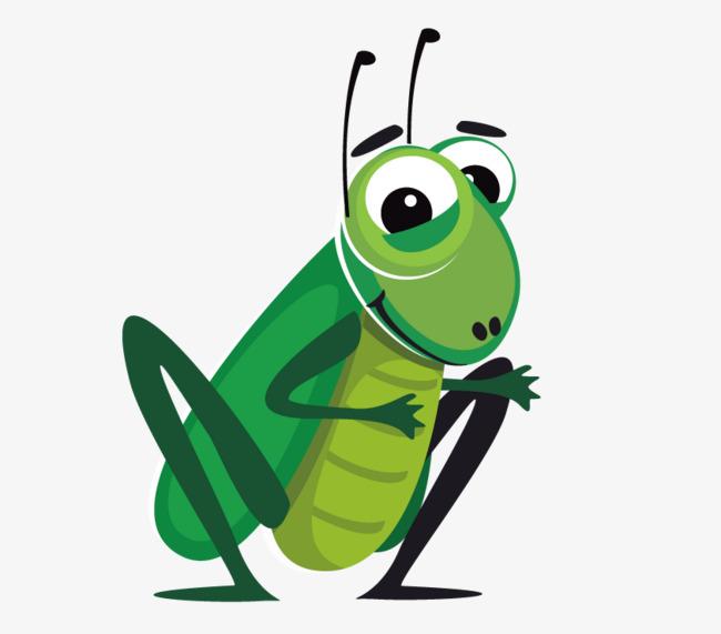 手绘昆虫蚂蚱