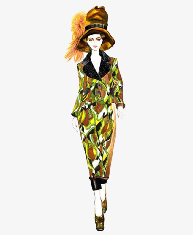 彩色服装手绘图