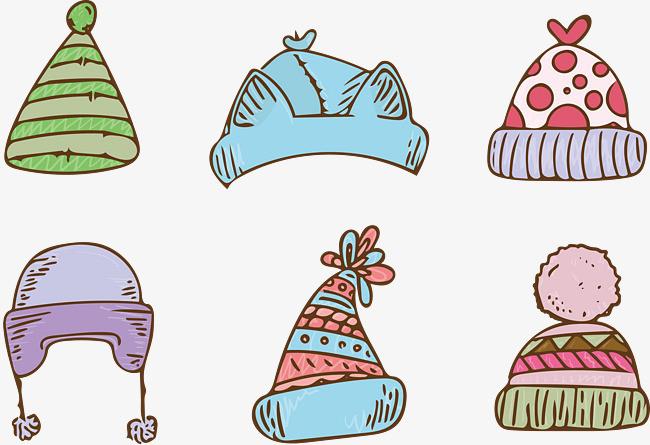可爱手绘帽子