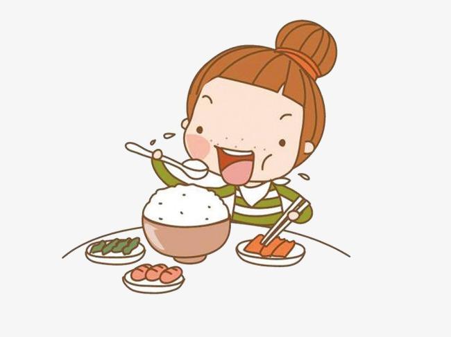 吃饭卡通人物素材高清吃饭卡通人物图片下载