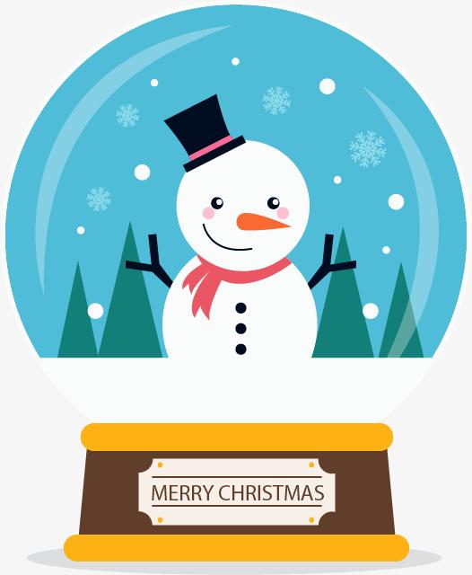 可爱的雪人水晶球图片