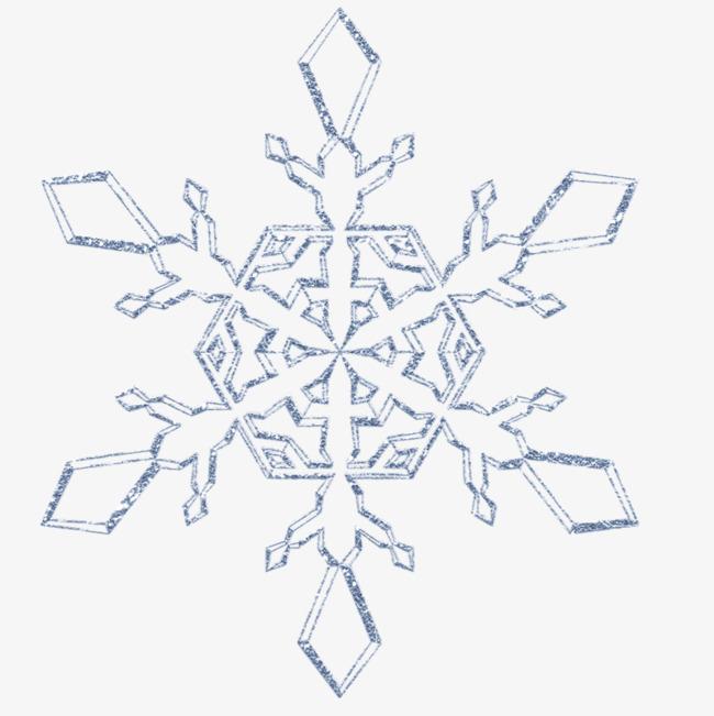 卡通手绘雪花装饰