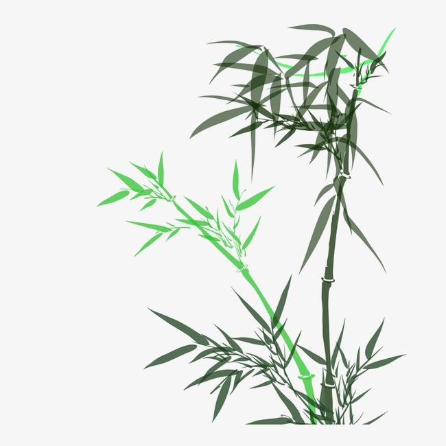 竹子手绘素材