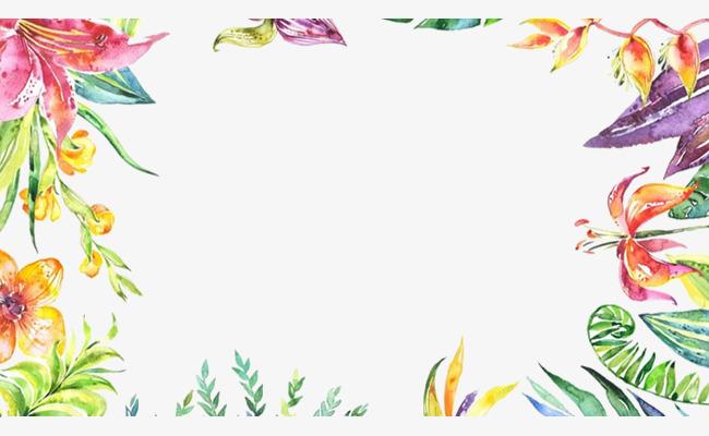 手绘水彩清新简约时尚绿叶叶子