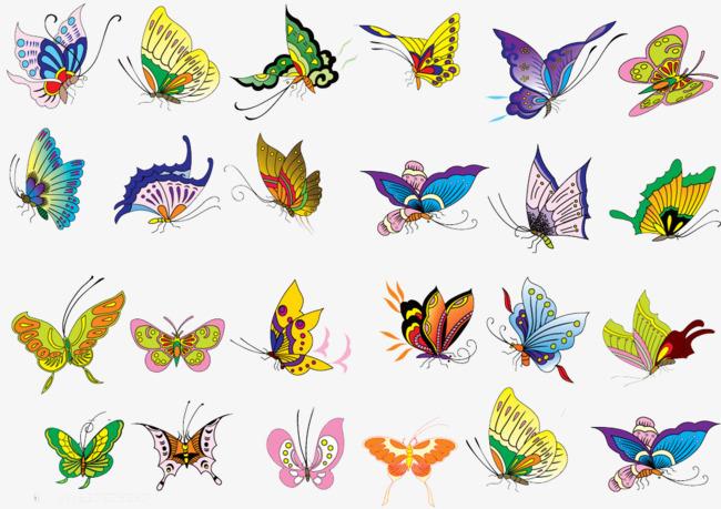 图片 蝴蝶背景 > 【png】 彩色蝴蝶  分类:手绘动漫 类目:其他 格式