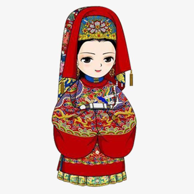 图片 > 【png】 古代小新娘卡通  分类:手绘动漫 类目:其他 格式:png