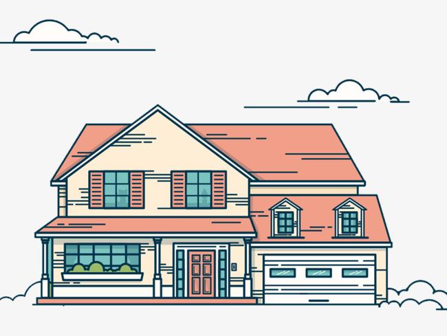 卡通房子建筑免抠素材