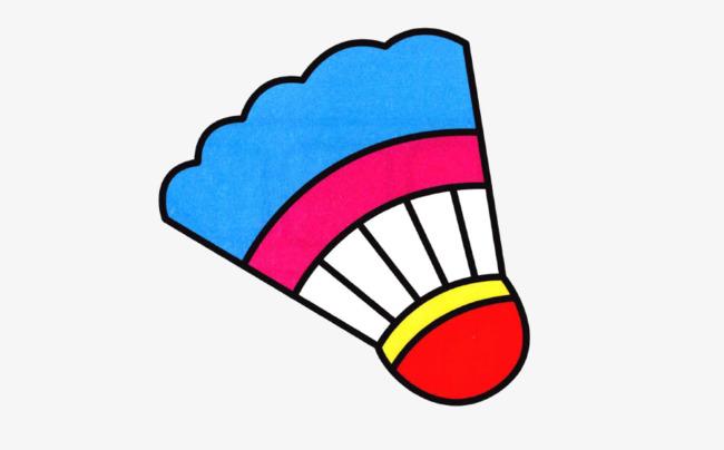 手绘彩色羽毛球png素材-90设计