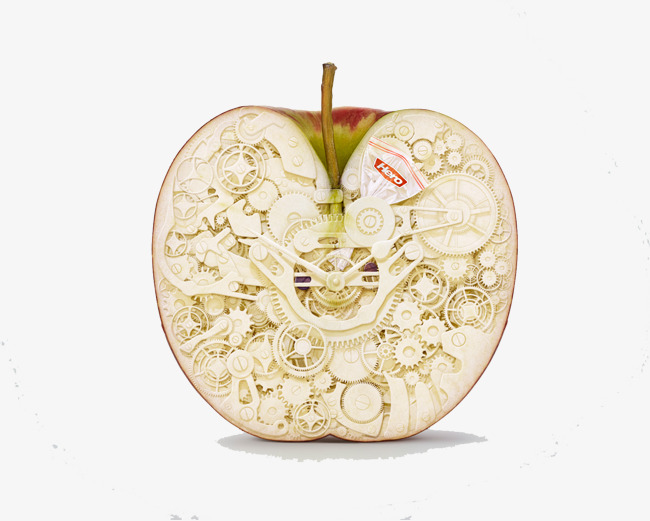 切开的一半苹果图片
