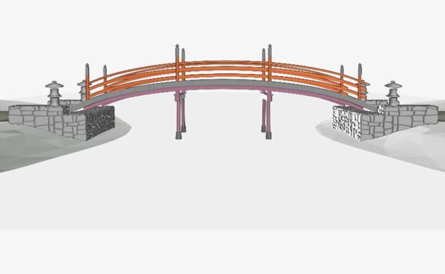 手绘简单桥