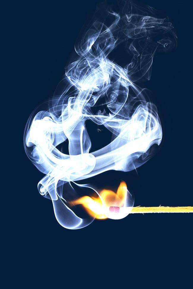 蓝色烟雾【高清效果元素png素材】-90设计