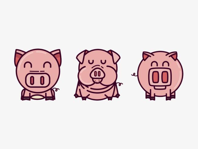 可爱小猪猪免抠素材