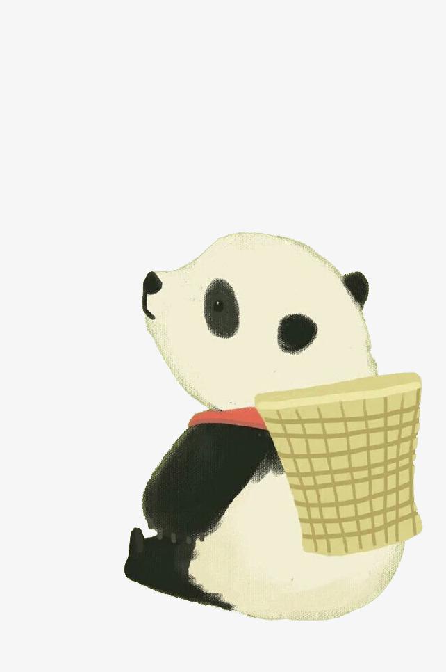 手绘可爱大熊猫
