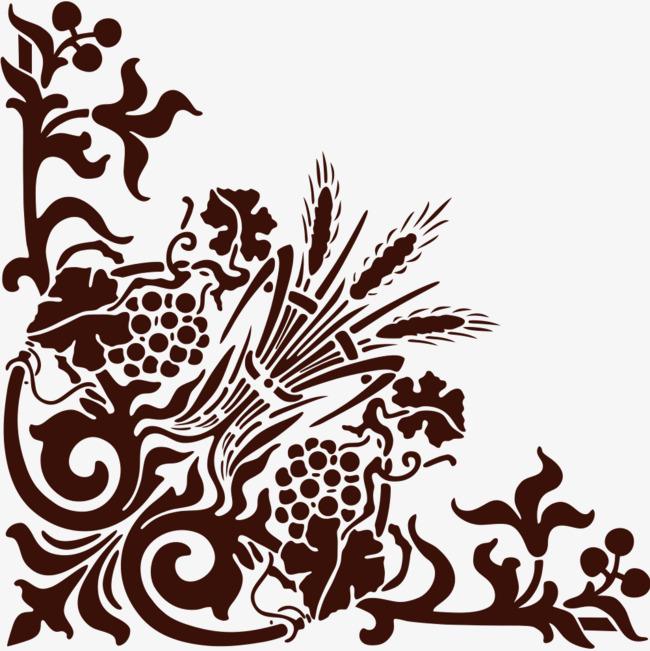 欧式黑色木小麦穗花