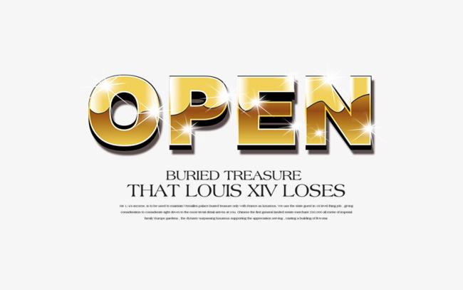 本次open艺术字英文免抠素材作品为设计师木土承土成创作,格式为png图片