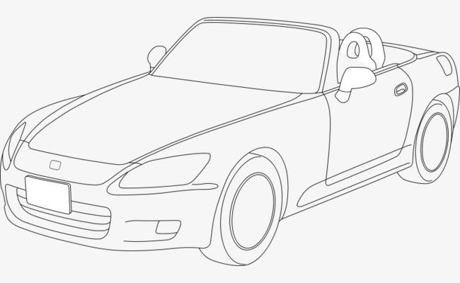 手绘的汽车免抠素材