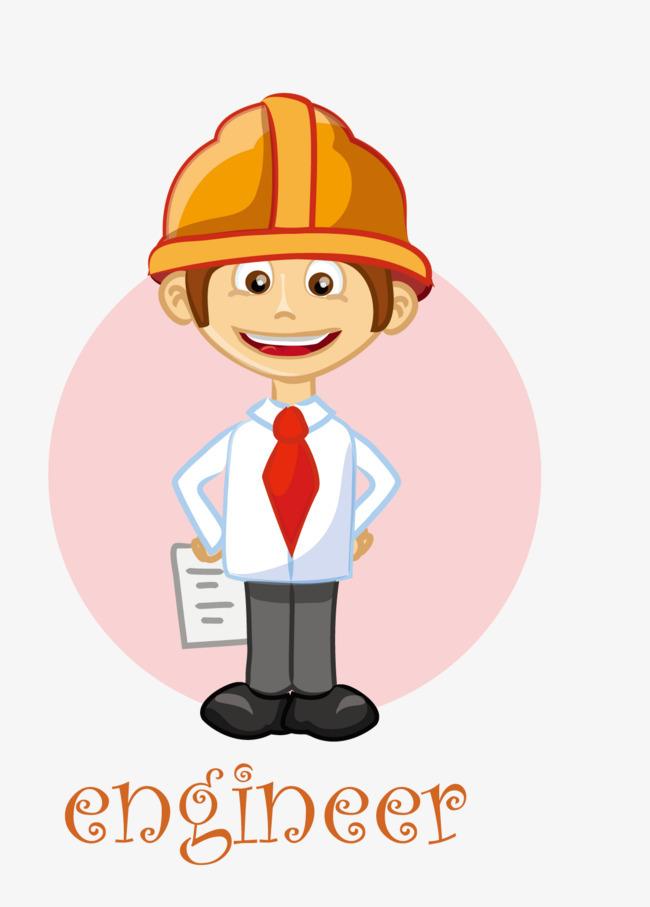 手绘建筑工人