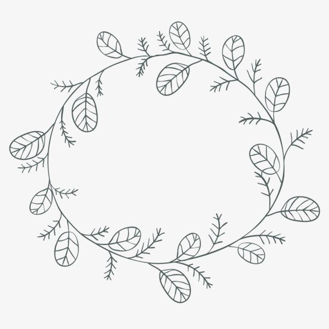 手绘线条花环