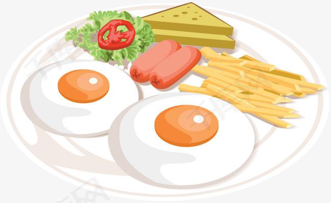 矢量手绘早餐素材图片免费下载 高清卡通手绘psd 千库网 图片编号5631966