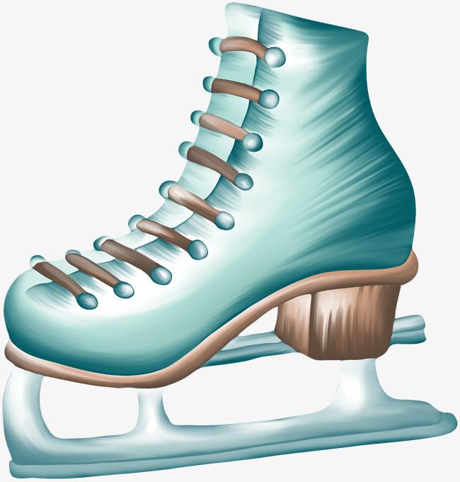 蓝色手绘溜冰鞋