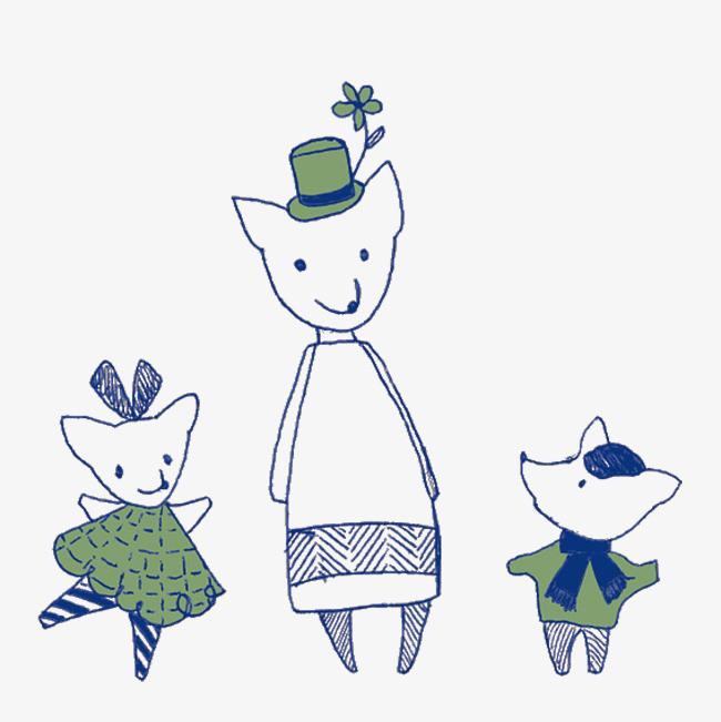 图片 > 【png】 卡通插画小动物  分类:手绘动漫 类目:其他 格式:png