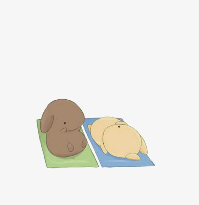 手绘睡觉的兔子素材图片免费下载 高清png 千库网 图片编号5633574