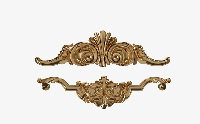 欧式镶金装饰品