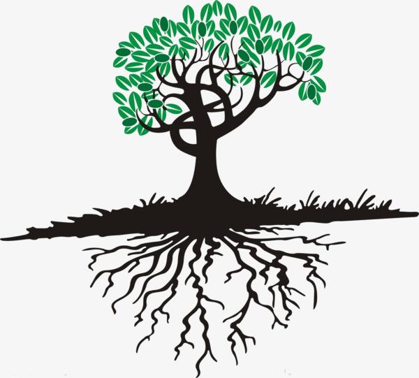 卡通大树树根免扣素材