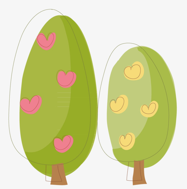 椭圆形树图片