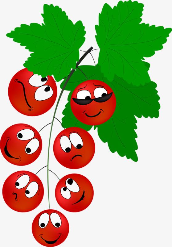 卡通手绘水果拟人葡萄