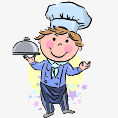 手绘厨师素材