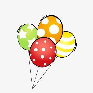 卡通手绘气球