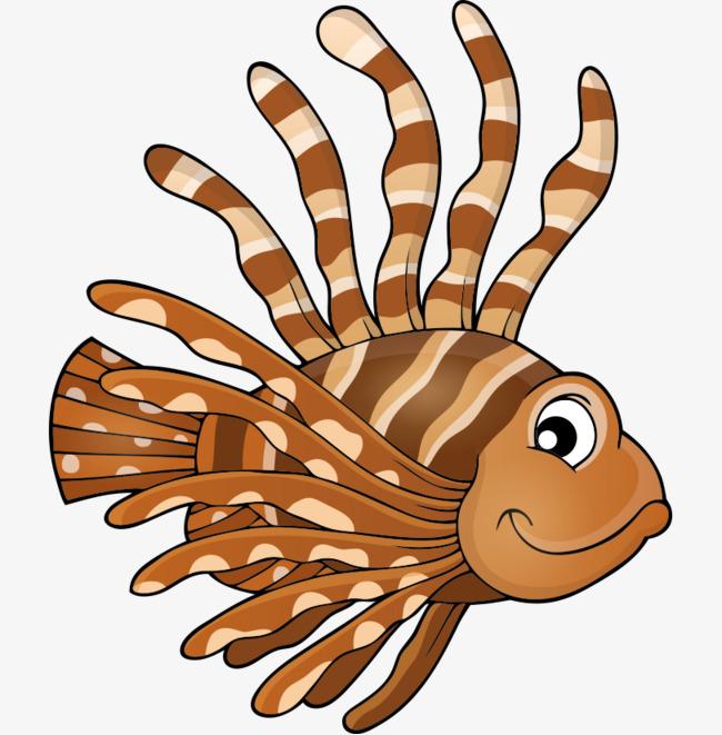 卡通手绘头发可爱鱼