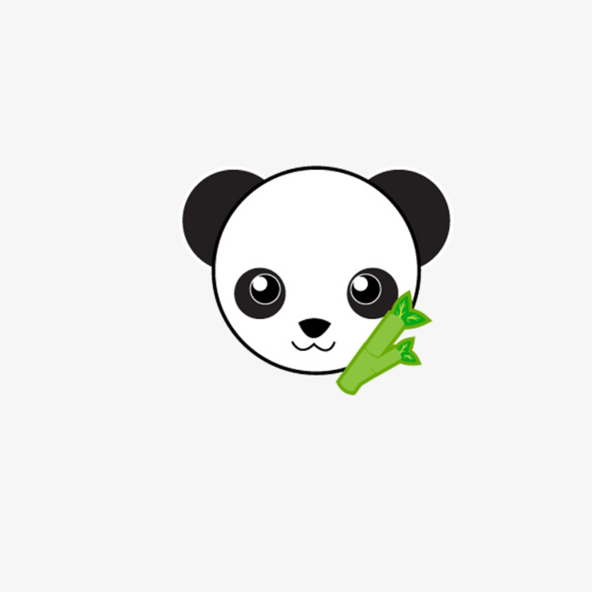 手绘 熊猫 头像 卡通 图案             此素材是90设计网官方设计