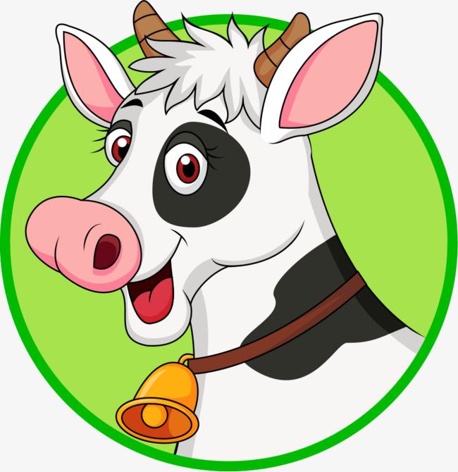 图片 > 【png】 卡通手绘挂铃铛可爱奶牛  分类:手绘动漫 类目:其他