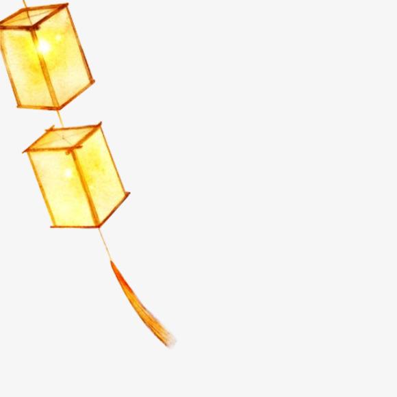 古风手绘黄色灯笼