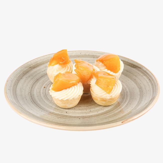黄桃点心小蛋糕食物免抠图png素材-90设计